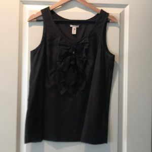 J Crew Black tank with embellishments